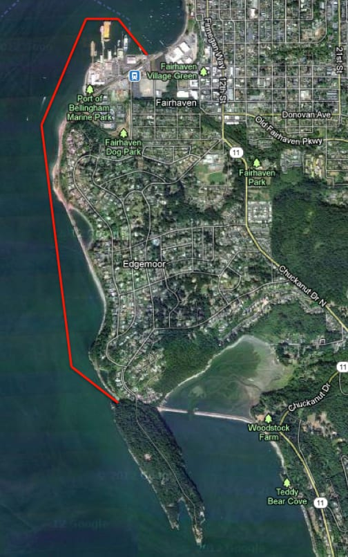 Clark's Point paddle route