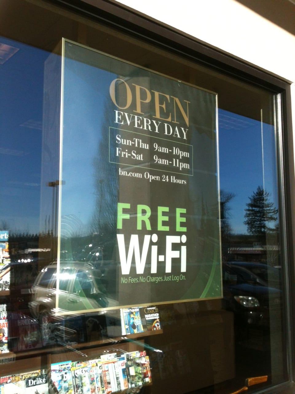 Barnes free wifi