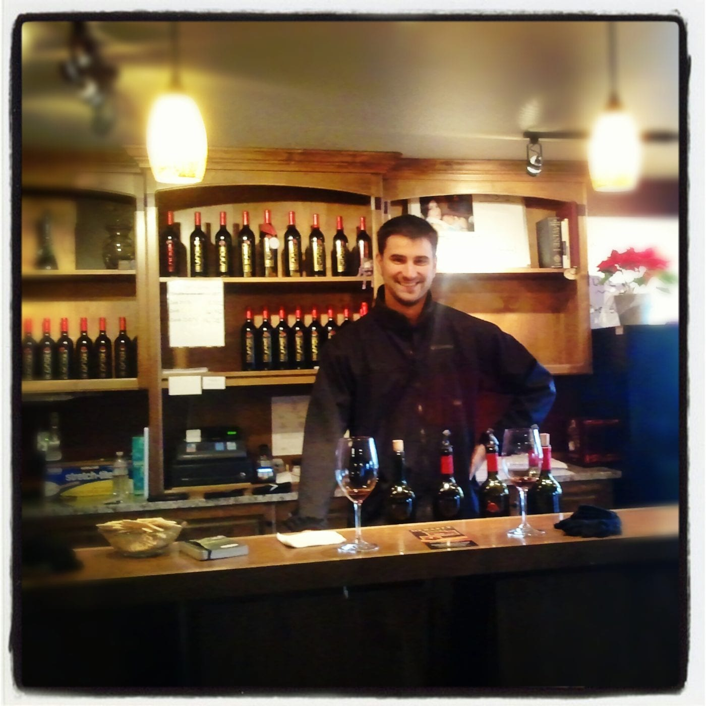 Eric Osvaldik in the tasting room.