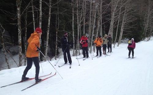 Todd Eastman cross country ski clinic at Salmon Ridge/Mt. Baker.