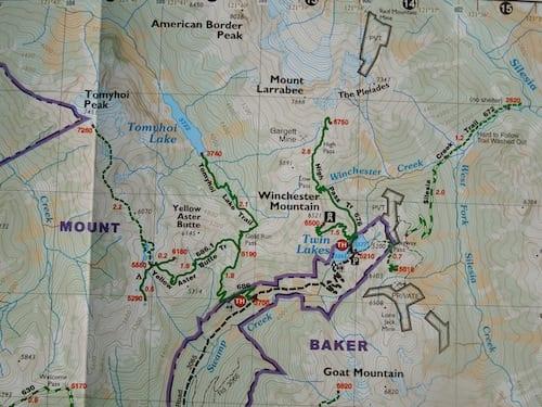 Green Trails Map Mt. Shuksan, WA - NO 14