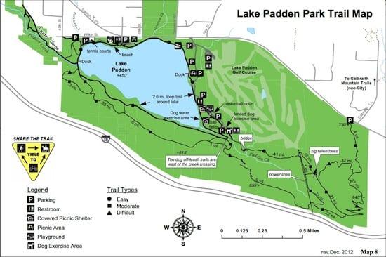 Lake Padden Trail Map