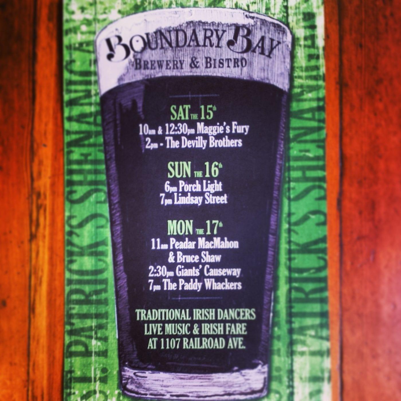 Boundary Bay Brewery, Irish Music, Bellingham, St. Patrick's Day, Craft Beer, Whatcom County, Parade