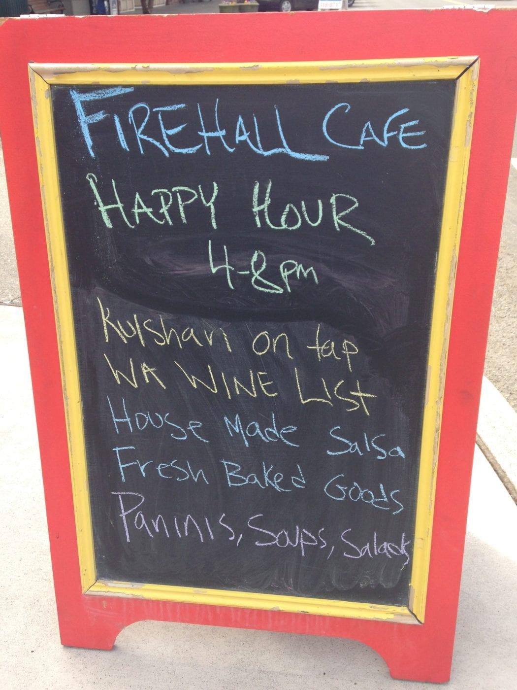 Firehall Cafe Happy Hour