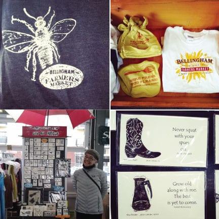 Bellingham Farmers Market, Crafts, Jewelry, Pottery, Clothing, Art, Jesse Prints