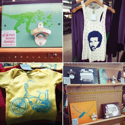 Bellingham Farmers Market, Crafts, Jewelry, Pottery, Clothing, Art, Red Boots Design