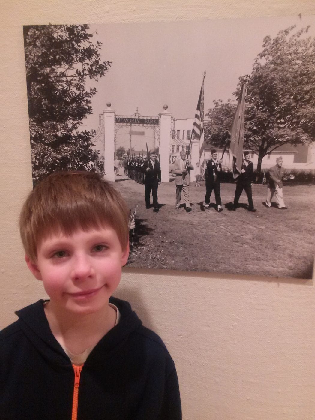 Histortical photo at Old City Hall, Whatcom Museum