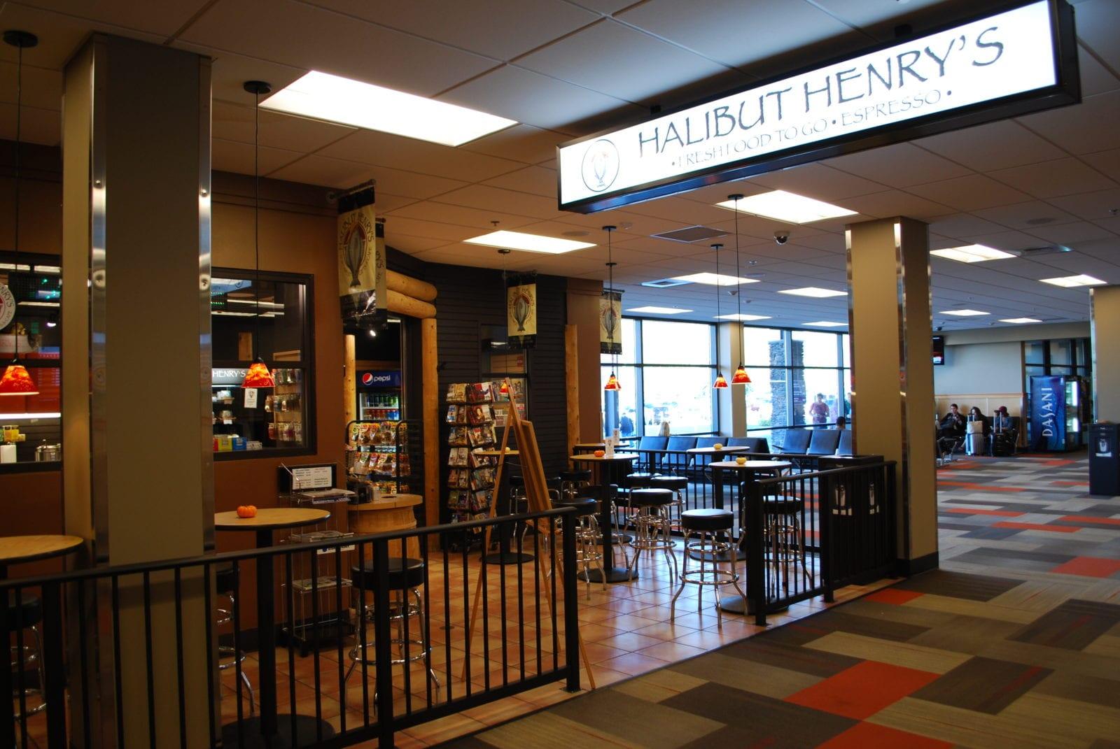 Bellingham Airport Interior Halibut Henry's 9
