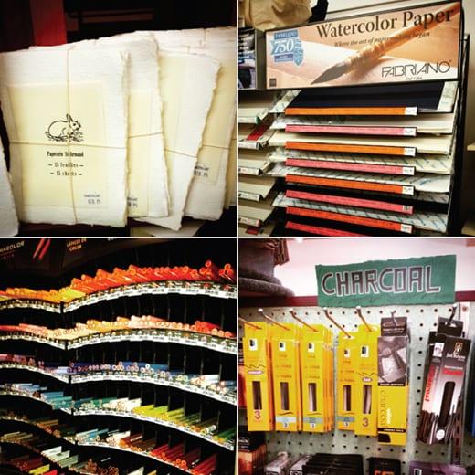 Dakota Art Store, Bellingham, Artists Supplies, Papers Pencils