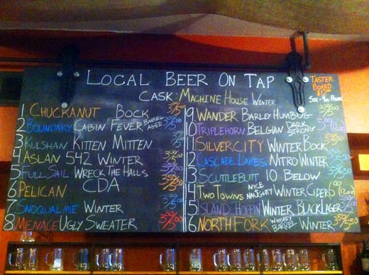 The Local Public House, Bellingham, WA, Craft Beer, Local Breweries, Winter Beers, Menace Brewery, Boundary Bay, Chuckanut Brewery, Aslan Brewing, North Fork Brewery, Kulshan Brewing, Wander Brewing
