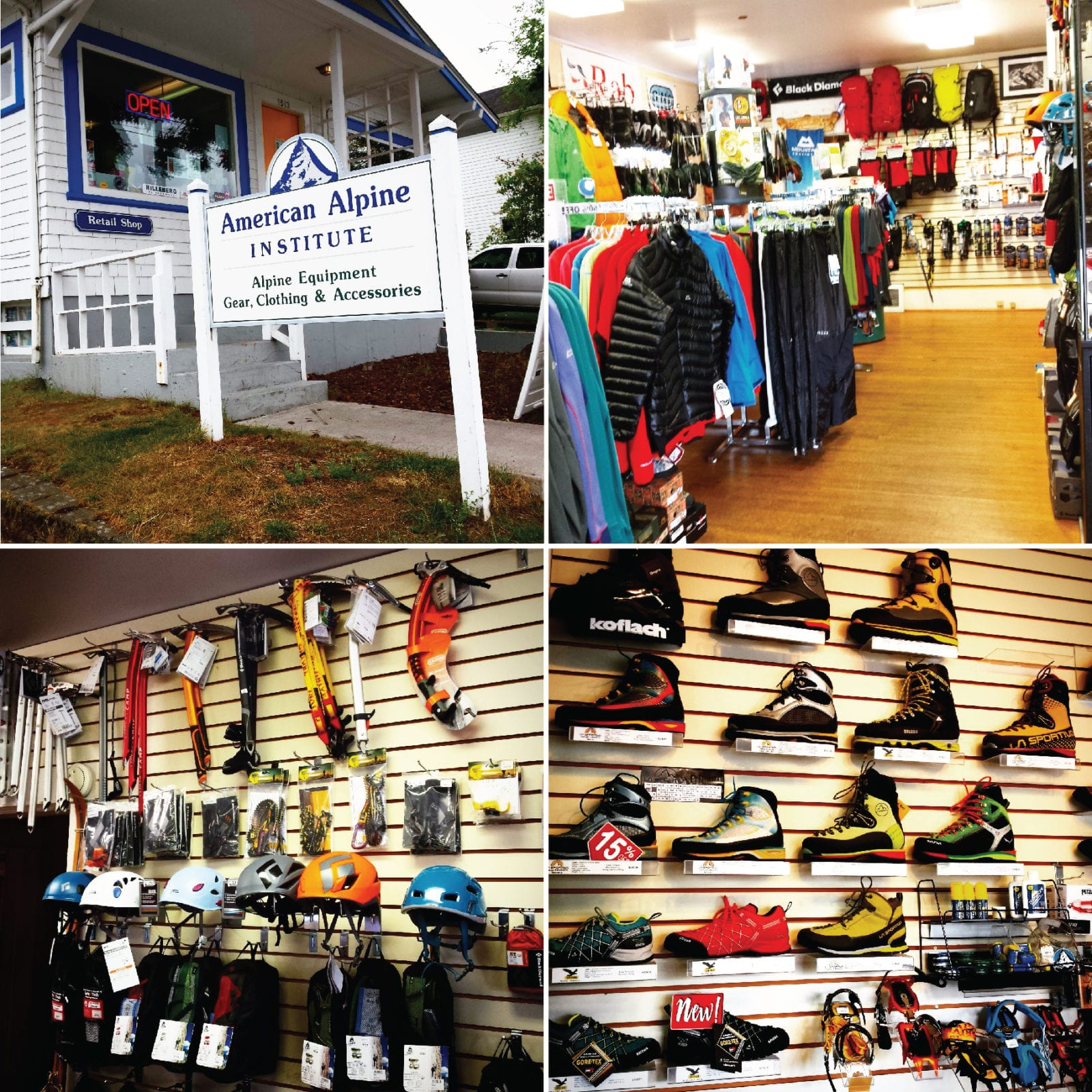 American Alpine Institute, Equipment Shop, climbing gear, outdoor retailer, Bellingham