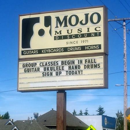 Mojo Music, Bellingham, Music Store, guitar lessons, music lessons