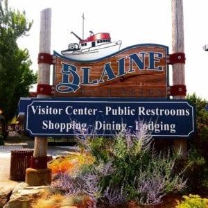blaine town sign