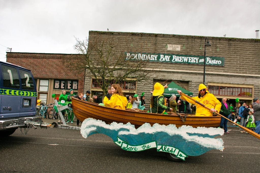 Save the Ales float, Bellingham St. Patrick's Day Parade