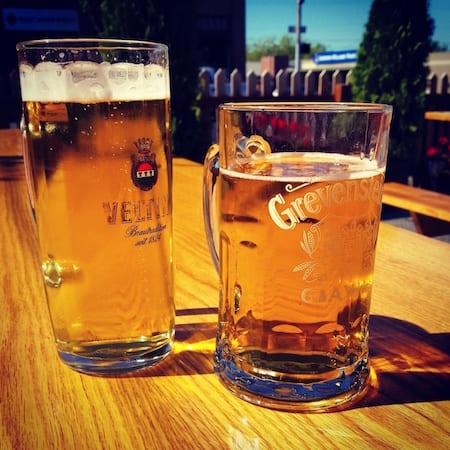 Schweinhaus Biergarten, Bellingham, Beer