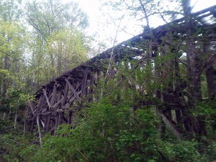 Historical train trestle, Whatcom Falls Park, Bellingham
