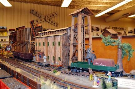 T-rex rides the train, Bellingham Railway Museum
