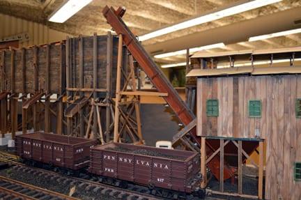 Handmade model train and logging mill, Bellingham Railway Musuem