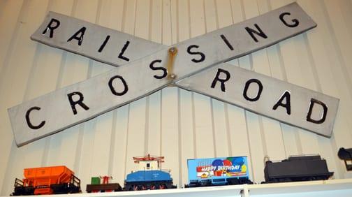 Railroad Crossing sign, Bellingham Railway Museum