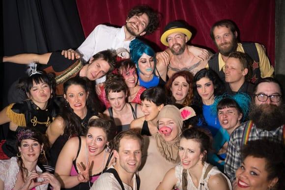 It takes a team to pull off a show. Photo courtesy of Della Moustachella.