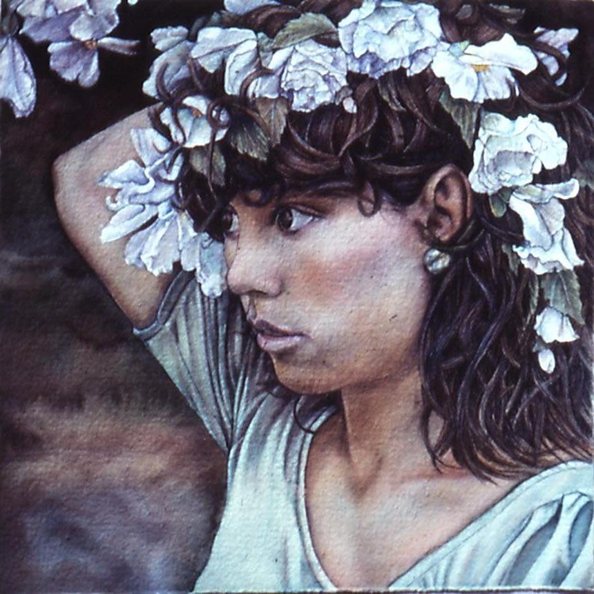 Whatcom Bellingham Rick Bulman Art Guild Market White Begonias