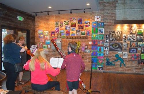 Kulshan Middle School musicians, Downtown Art Walk, Bellingham