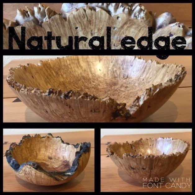 Artwood Fairhaven Steve Pulver Live Edge maple burl bowls