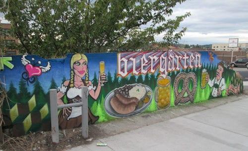 Schweinhaus Biergarten Shawn Cass street art graffiti Bellingham Whatcom