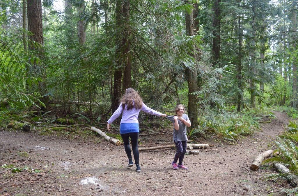Kids at play, Hundred Acre Wood, Bellingham