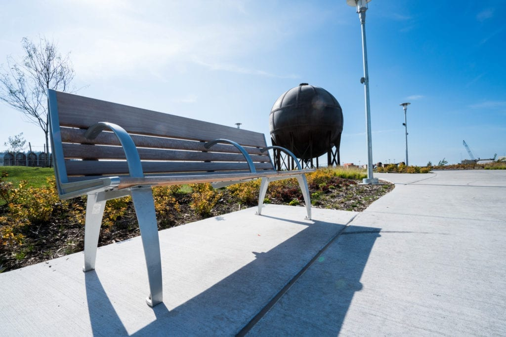 Waypoint Park and the Acid Ball in Bellingham