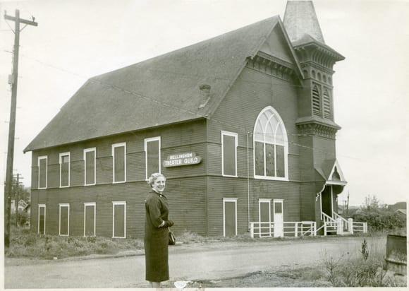 President Margaret Archibald stands before BTG in 1960.