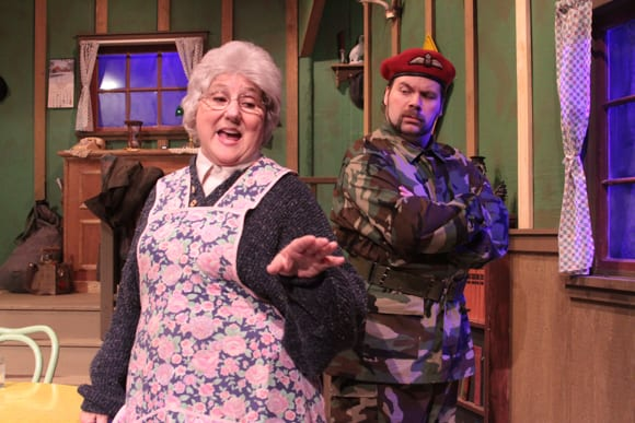 The Foreigner, a two-act comedy performed in community theater's around the world appeared at BTG in 2015. Teri Grimes (L) and Paul Henderson II (R). Photo by David S. Cohn.