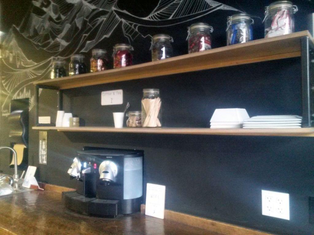 Coffee bar at Vital Climbing Gym