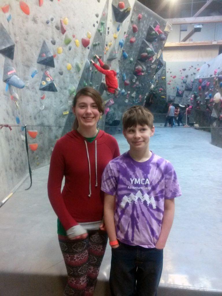 Happy kids at Vital Climbing Gym