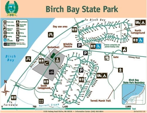 Birch Bay Campground Map 1