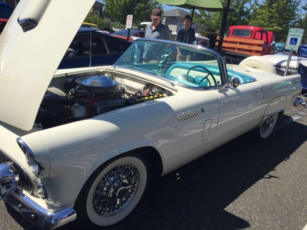 Blaine Car Show White Thunderbird 1