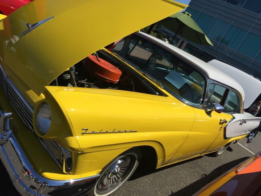 Blaine Car Show Yellow Fairlane 2