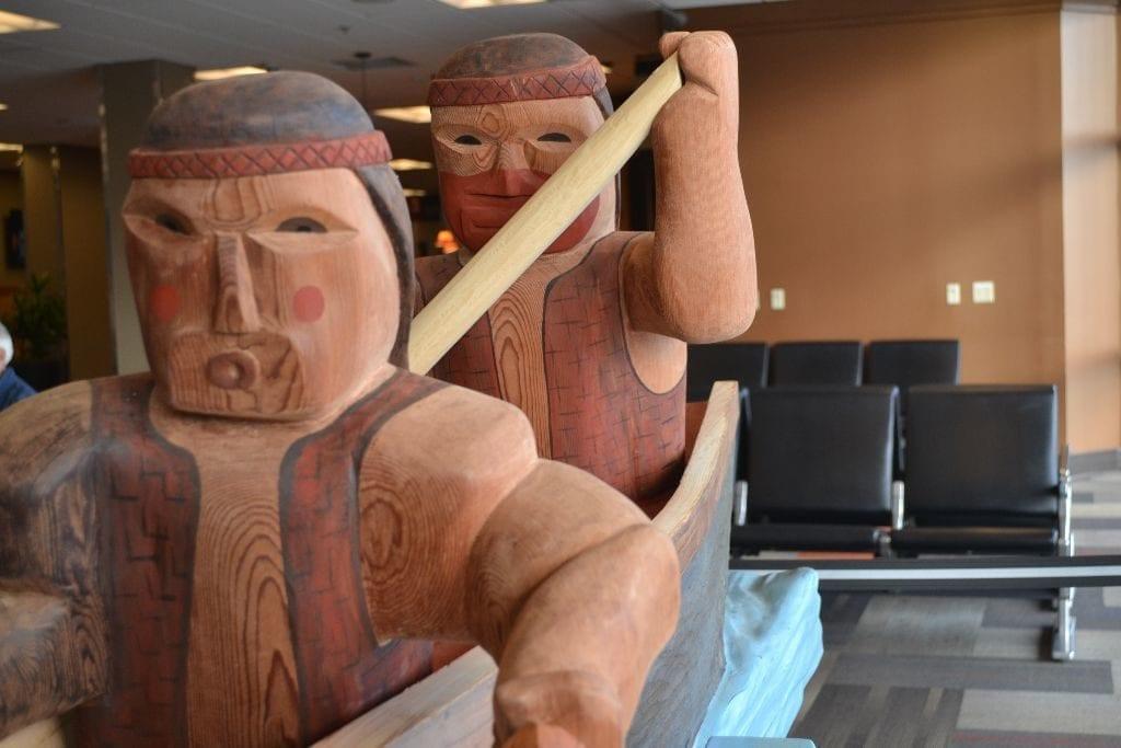 Salmon Story Pole Bellingham Airport6