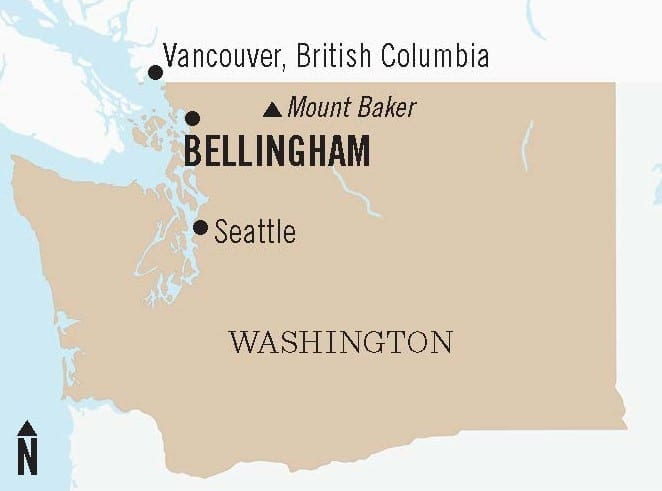 Where Is Bellingham And Mount Baker Map