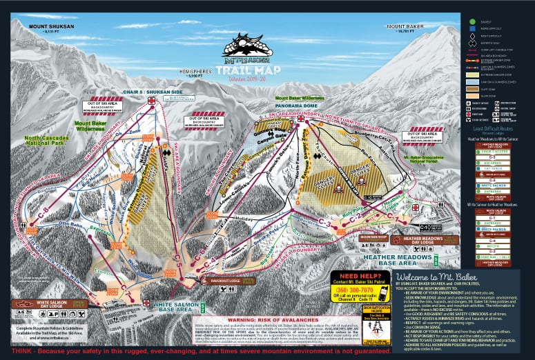 Mount Baker Resort Trial Map