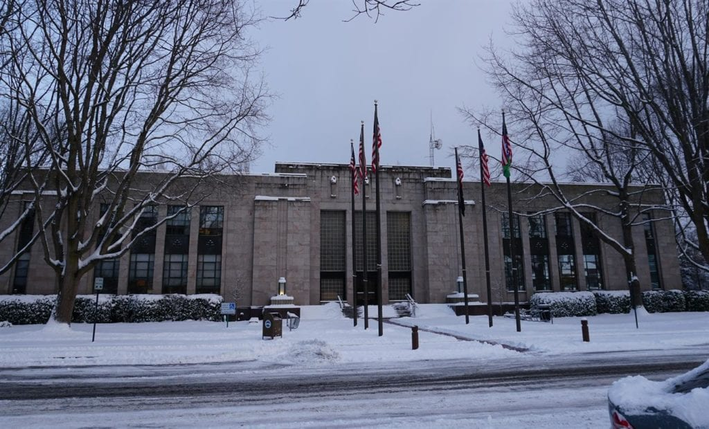 City Hall Snow Jan 15 2020