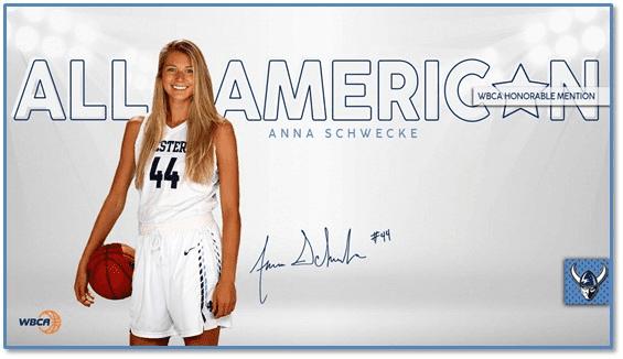 Anna Schwecke Earned All American Honors