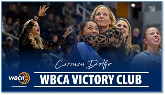 Carmen Dolfo Recognized By Wbca For 600th Career Victory