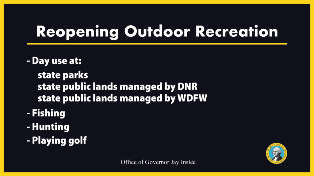 Inslee Announces Easing Of Outdoor Restrictions