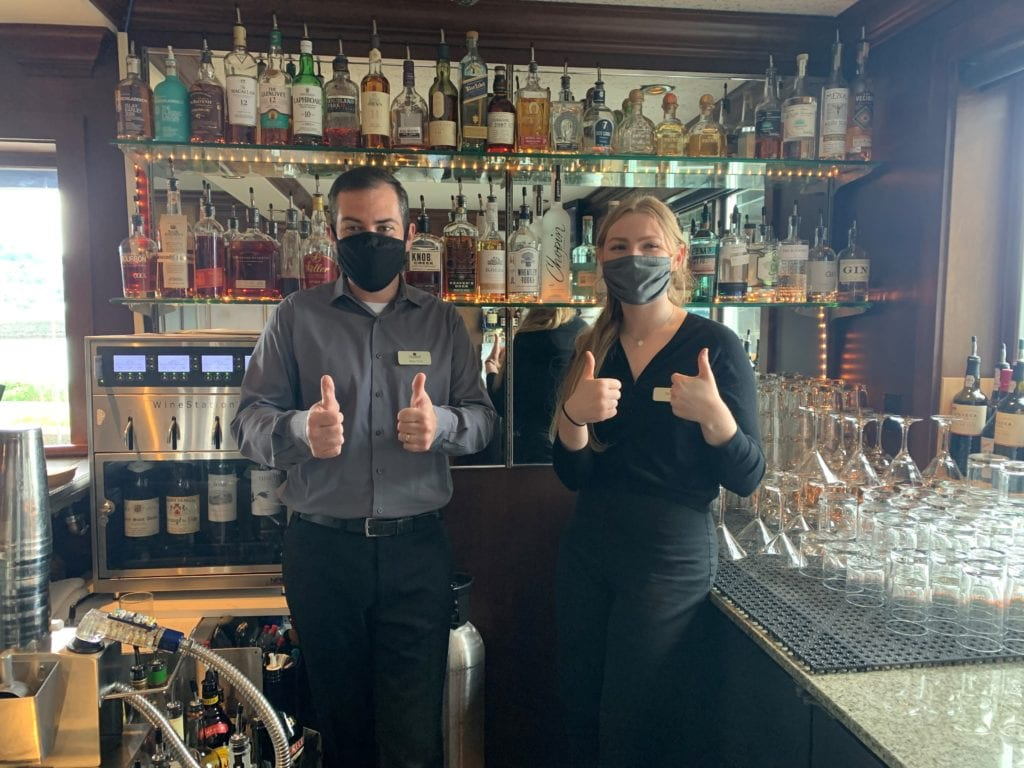 Masks At Lighthouse Grill At Hotel Bellwether