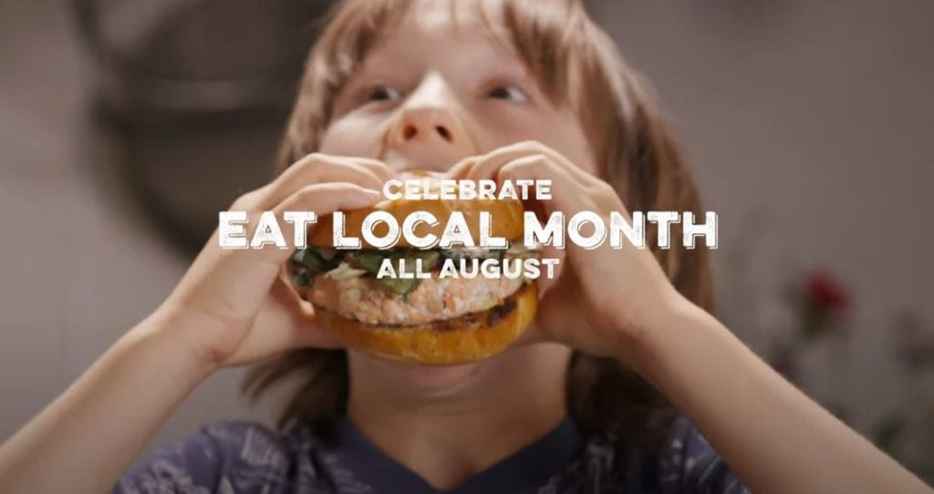 Celegrate Eat Local Month All August