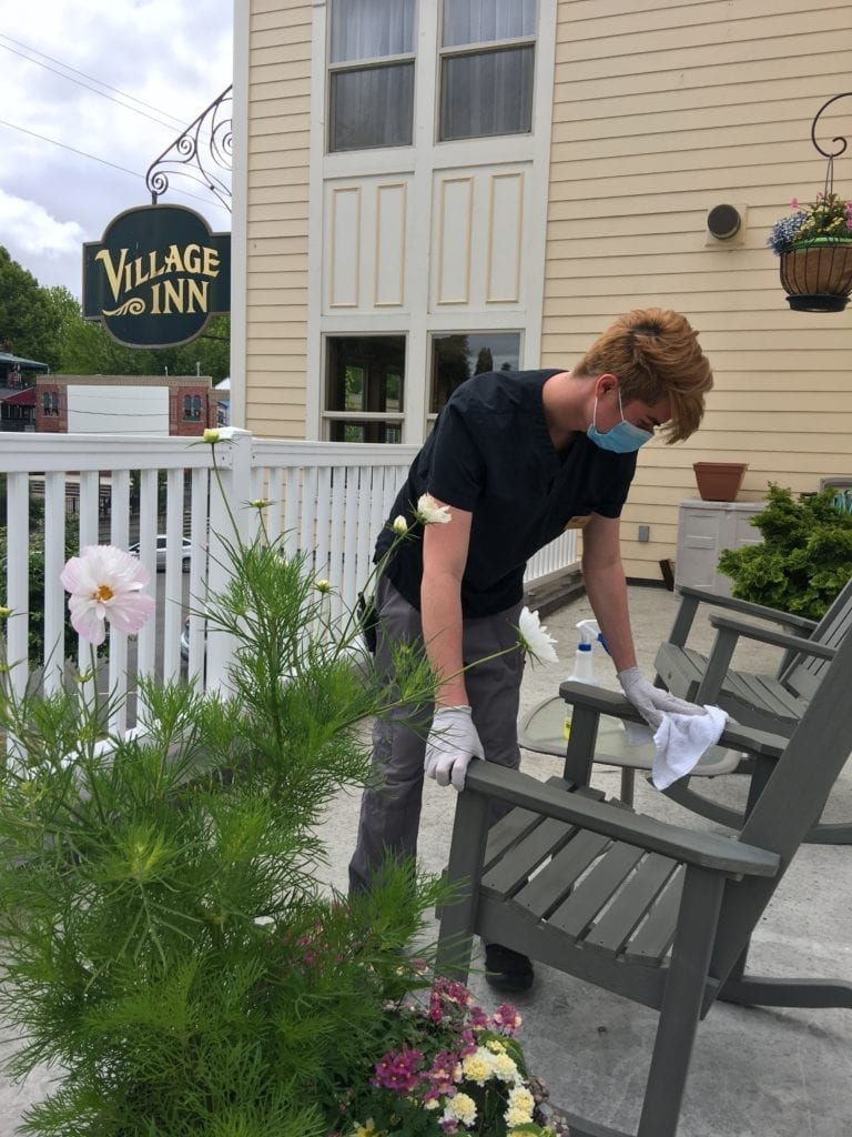 Fairhaven Village Inn, Covid Cleaning By Housekeeping Member Leroy Ohana