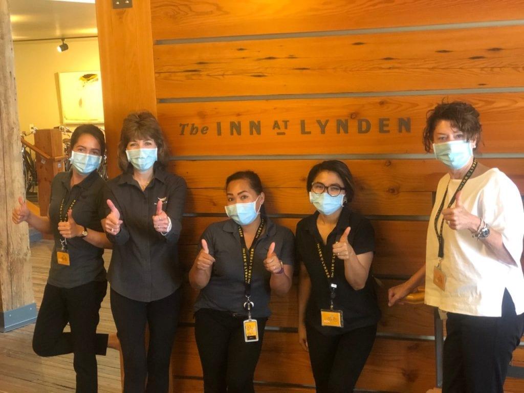 Inn At Lynden Staff wearing masks (1)