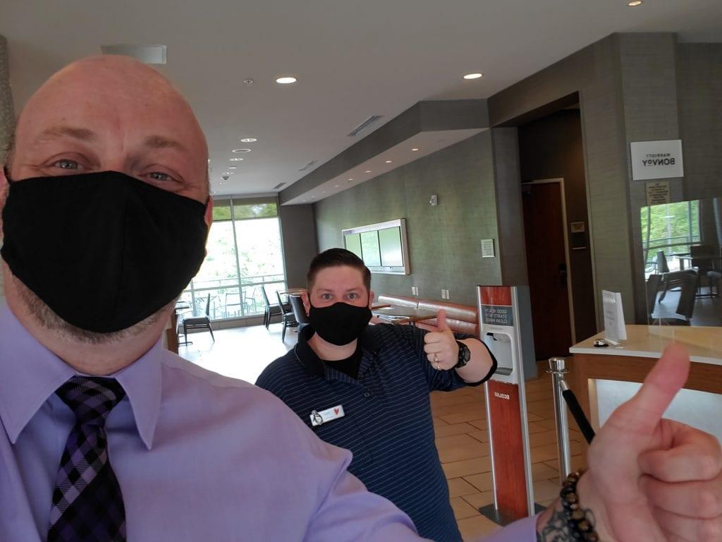 Springhill Suites staff wearing masks (1)
