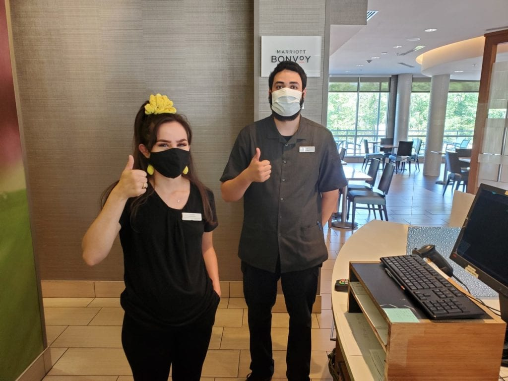 Springhill Suites from desk staff wearing masks (3)